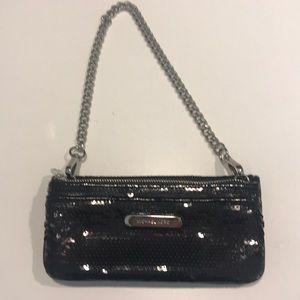 Michael Kors Black sequin wallet w chain handle